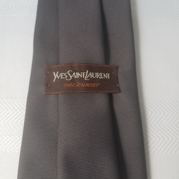 496af0c6f0a Yves Saint Laurent Accessories | Ysl Men Tie Vintage Gray | Poshmark